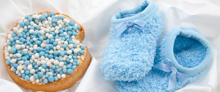 100%NL Magazine beschuit met blauwe muisjes
