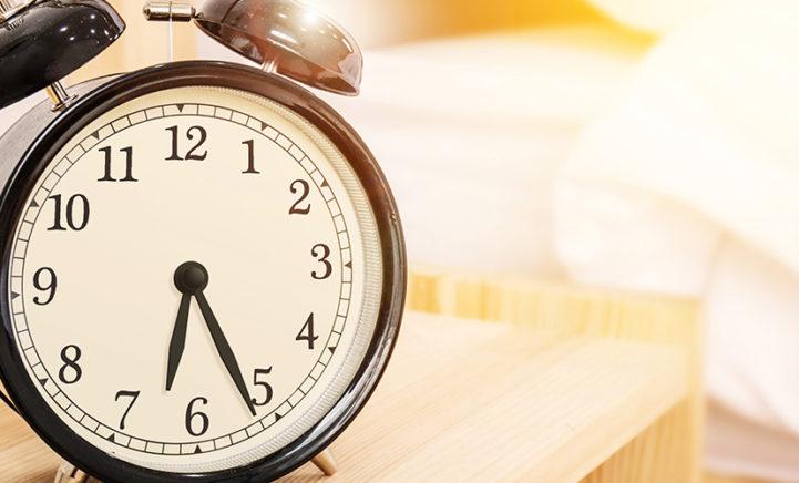 Voor tien uur 's ochtends beginnen met werken is superongezond!