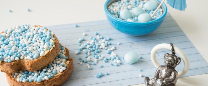 100%NL Magazine baby blauwe muisjes