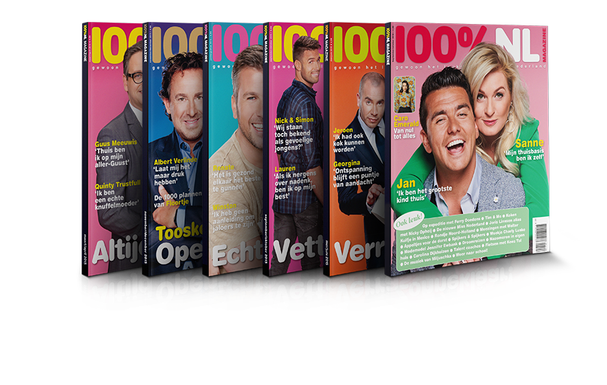 100%NL Magazine Abonnement 6 edities Jan en Sanne
