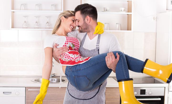 Dit gezin heeft een hilarische oplossing voor het verdelen van huishoudelijke taken.