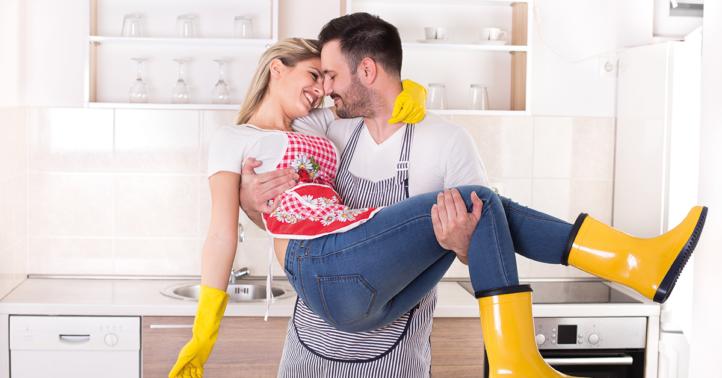 100%NL Magazine schoonmaken man en vrouw