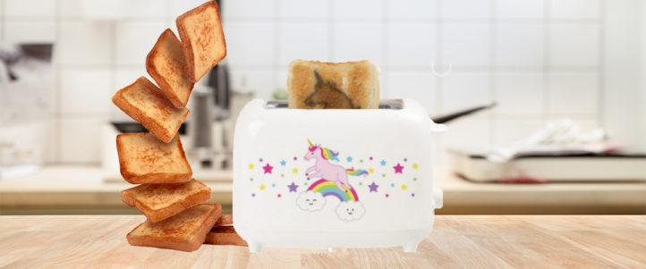 Leuk voor de kinderen! Magische Unicorn Toast!