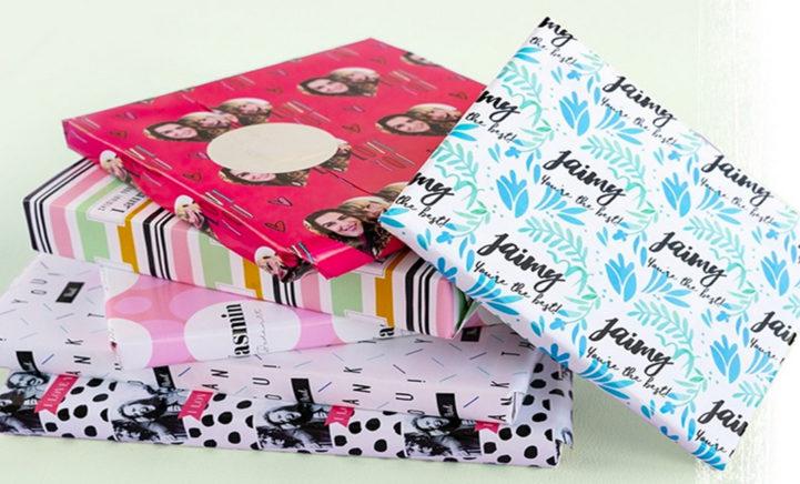 HILARISCH: inpakpapier met het hoofd van je familielid erop!