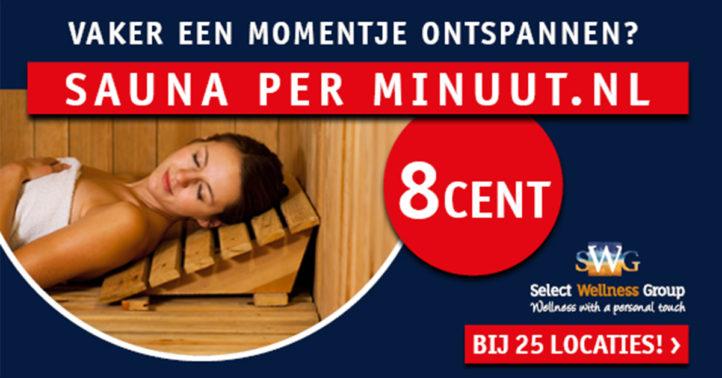 100%NL magazine SWG sauna per minuut