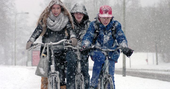 100%NL Magazine fietsen sneeuw