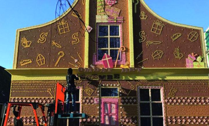 Dit moet je gezien hebben! Een huis gemaakt van snoep!