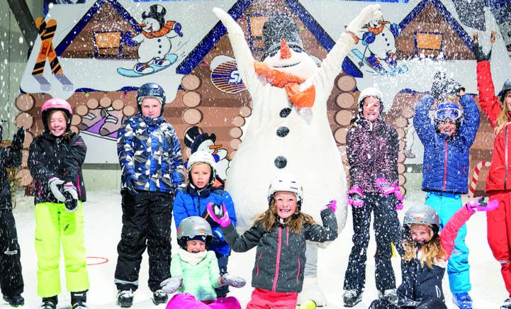 Vier gegarandeerd een witte kerst bij SnowWorld!