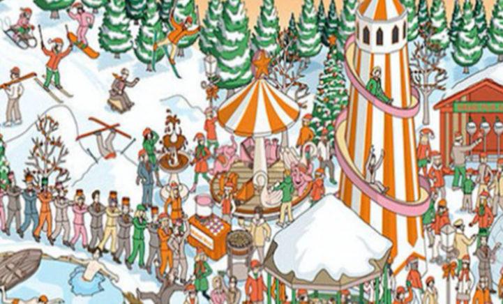 Zoekplaatje: Zie jij de Kerstman in dit plaatje?