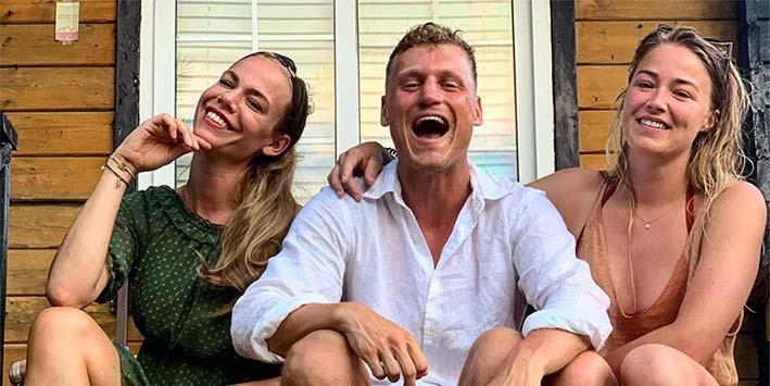 Nicolette, Kaj en Geraldine genieten op onbewoond eiland!