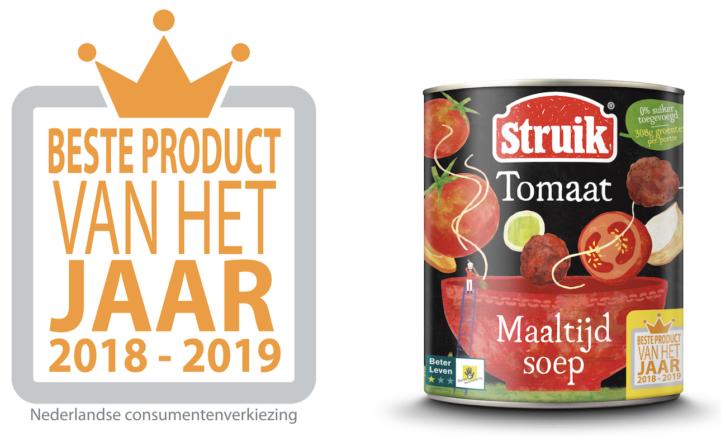 Beste Product van het Jaar 2018-2019: Struik Maaltijdsoep tomaat