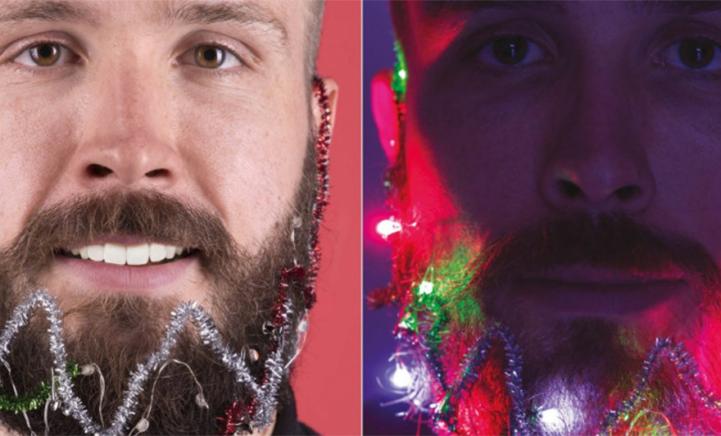 HAHA: Versier je baard met lichtjes en slingers deze kerst!