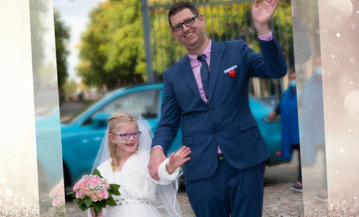 ONTROEREND: Ernstig zieke Norah (6) 'trouwt' met haar vader
