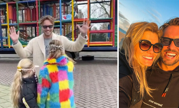 VIDEO: Bas en Nicolette verrassen kinderen met rijdend speelparadijs!
