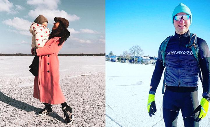 BN'ers genieten massaal van het winterweer op de schaats!