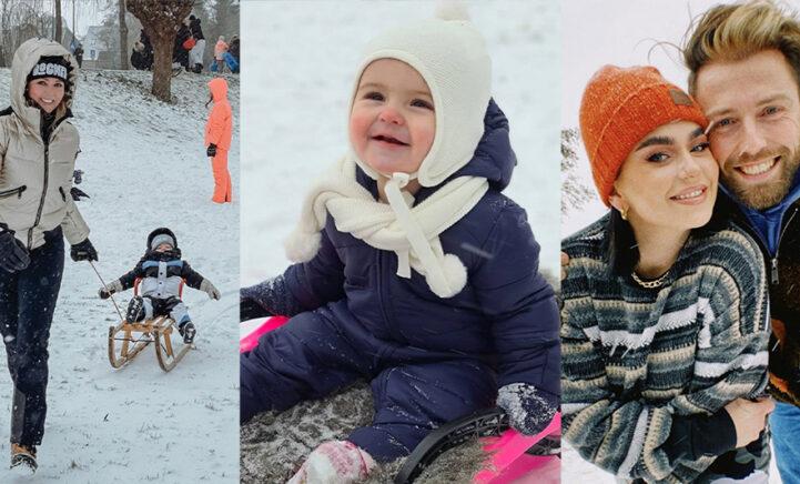 SNEEUWPRET: BN'ers genoten volop van de sneeuw met kids, partner of hond!