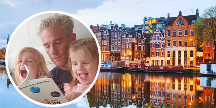 Binnenkijken in het luxe grachtenpand van Art Rooijakkers en zijn gezin!