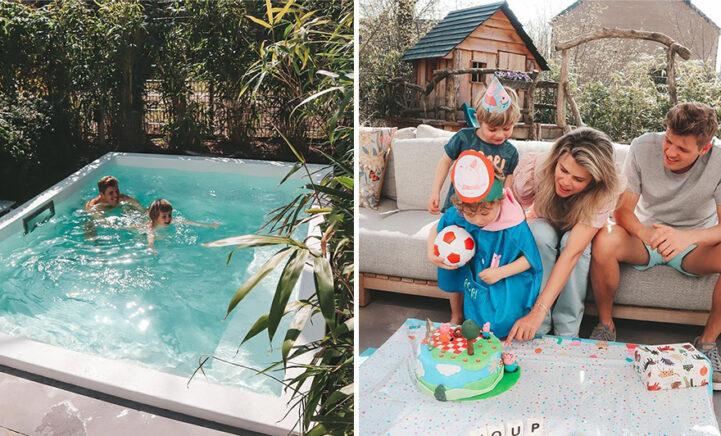Kim Kötter maakt volgers jaloers met nieuw zwembad in prachtige tuin!