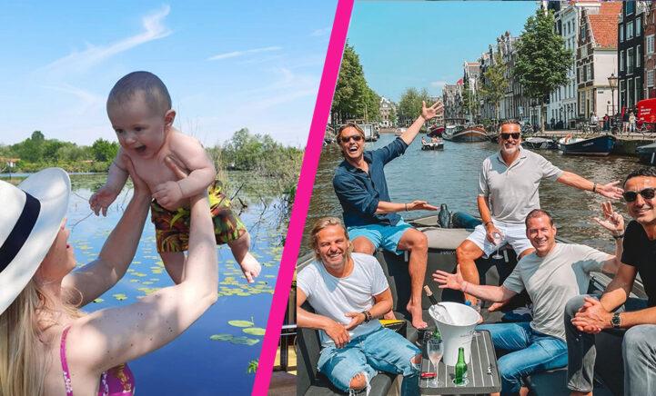 Van bootje varen tot vakanties: de leukste zomerse foto's van BN'ers!